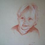 Juliette, sanguine sur papier, 50x32,5