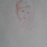 Arthur, sanguine sur papier, 50x32,5