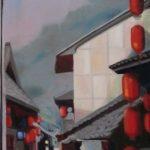 Ascension 2, Douceur de vivre, Chine, Guizhou, huile sur toile, 150x50