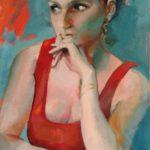 Laurence, huile sur toile, 61x38 c roch