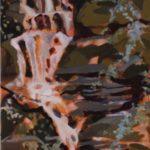 scension3, Cascade, Chine, Tucheng, huile sur toile, 150x50