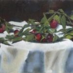Prunes sauvages - Huile sur toile - 50x30 c roch