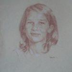 Claire, sanguine sur papier, 50x32,5