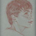 Jérémie, sanguine sur papier, 50x32,5