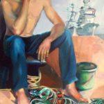 Amarres et amers, huile sur toile, 116x73 c roch