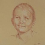 Sophie, sanguine sur papier, 50x32,5