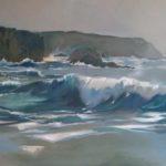 La mer recommencée, huile sur toile, 116x89 c roch
