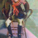 Marie, huile sur toile, 116x73 C ROCH