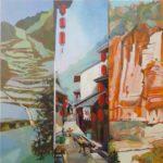 oches, rue, cultures - Douceur de vivre - Chine du Sud - huile sur toile, 150x150