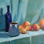 La bouteille bleue, huile sur toile, 61x46 c roch