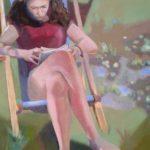 Marie et Maupassant, huile sur toile, 73x54 (20P)-2016 C ROCH