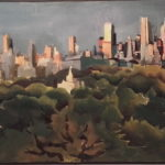 NY 5h30 2, Manhattan dps 85 st, huile sur toile, 90x30