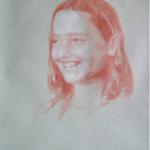 Mahaut, sanguine sur papier, 50x32,5
