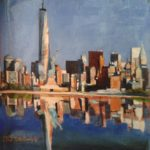 NY skyline 3, huile sur toile, 19x19