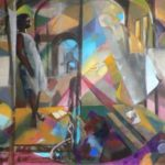 Annonce - Huile sur toile - 92x73 c roch