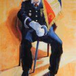 La Garde aux Invalides, mémoire de résistant, Doumé - huile sur toile - 116x81 c roch