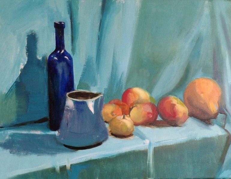 La-bouteille-bleue-huile-sur-toile-61x46
