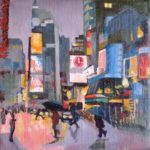 NY Times Square 1, huile sur toile, 13x13