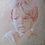 Augustin, sanguine sur papier, 50x32,5