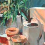 Avant le jardin, huile sur toile, 70x50 c roch