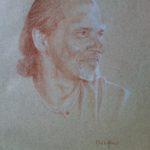 J, sanguine sur papier, 50x32,5