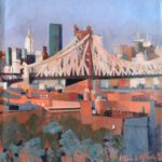 NY Pont de Brooklyn, huile sur toile, 19x19