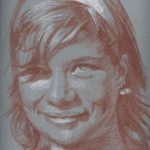 Amélie, sanguine sur papier, 50x32,5