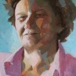 Françoise, huile sur toile, 55x46M c roch