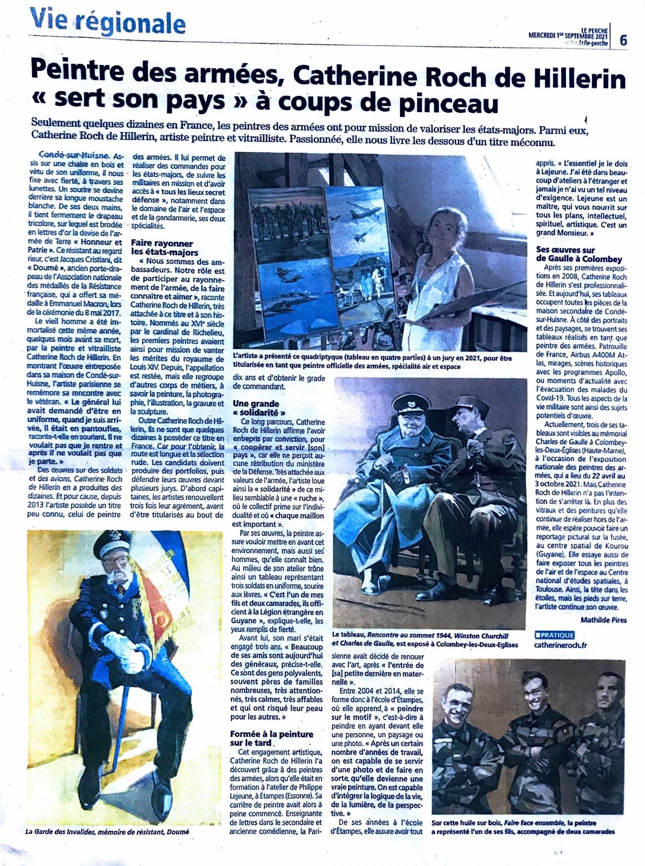 PRESSE Peintre des armées spté Air et Espace & Gendarmerie – Le Perche 1er sept 2021